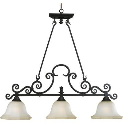 pool table style light or wrought iron dining table style light fixture Home Depot $480.84