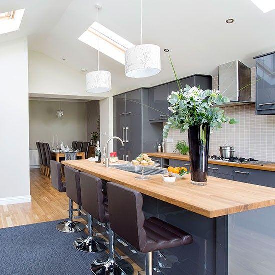 White Gloss Kitchen Grey Worktop: 1000+ Ideas About Grey Gloss Kitchen On Pinterest