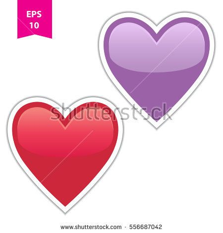 Heart vector sticker - Symbol of love and affection