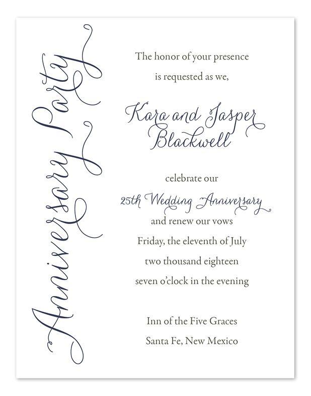 50th wedding anniversary invite wording anniversary party