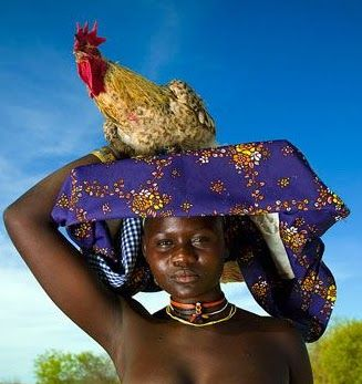 Mucubal . Angola . Mucawana occupy a southern land isolated by deserts and mountains from the rest of the country and have kept their ethnic individuality and culture in the seclusion of Oncocua and Elola , Angola. Mucawana people are impervious to change as they still live and dress in strictly traditional ways. They engage in subsistence agriculture and animal husbandry.