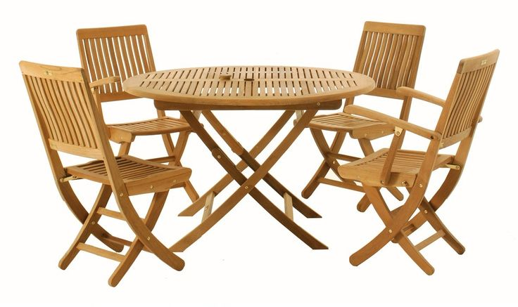 Wooden Folding Garden Table And Chairs