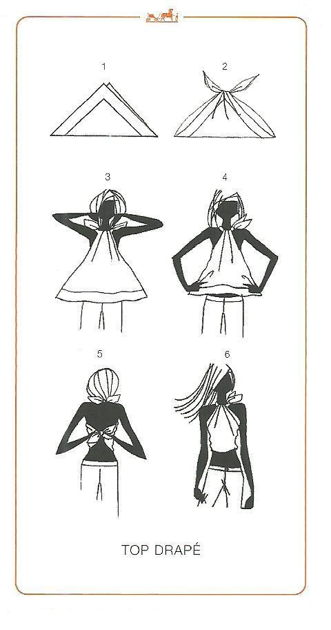 How to tie a scarf - Hermes knotting cards - TOP DRAPE