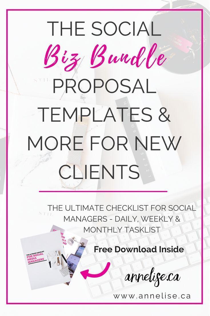 Social Media Proposal Template Social Media Strategy Template