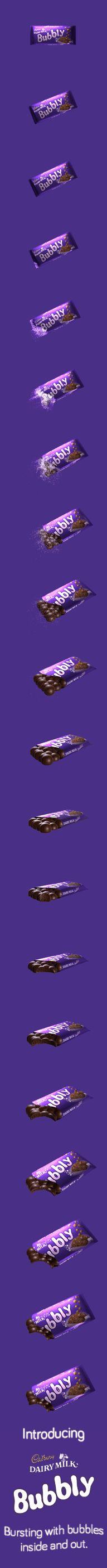 Experience the lighter side of life with Cadbury Dairy Milk Bubbly http://cadbury.co.za/bubbly