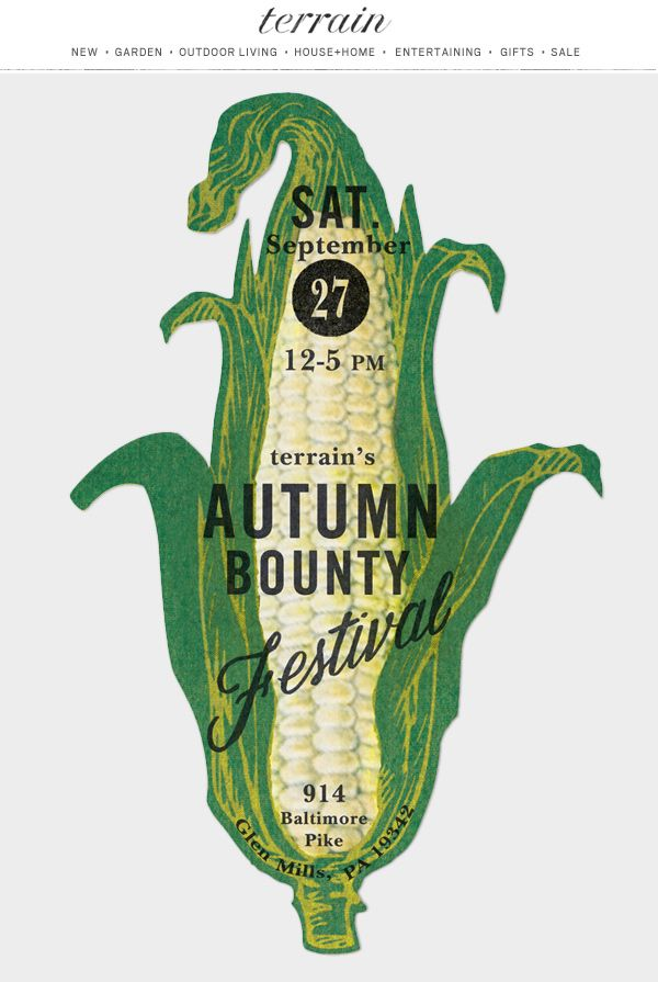 #Autumn Bounty at #shopterrain September 20