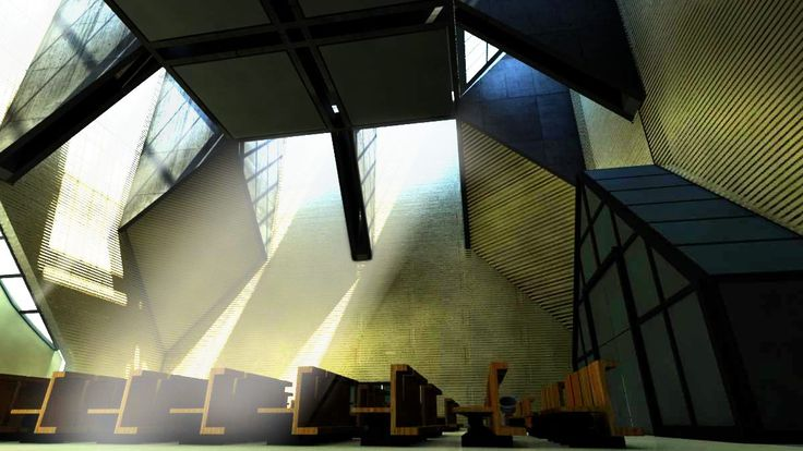 church in Seriate, Mario Botta, interior scene