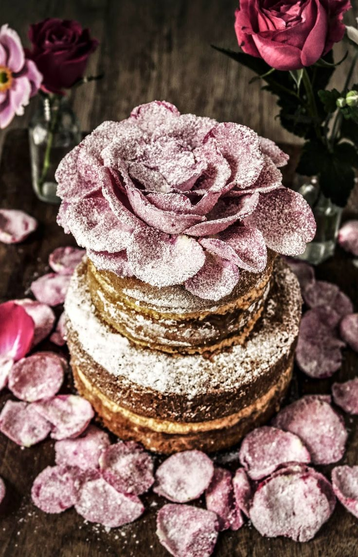 rosewater cardamom and orange genoese cake