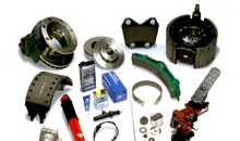 A selection of aftermarket truck parts.