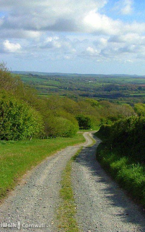 Track to Helland Barton near Delabole, Cornwall
