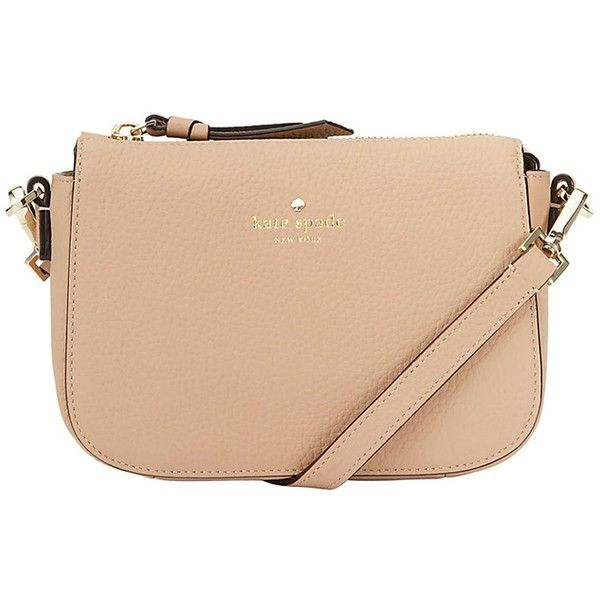 Daniels Drive Wendi (620 PEN) ❤ liked on Polyvore featuring bags, handbags, hazel, genuine leather purse, kate spade bags, beige leather purse, kate spade purses and leather zip purse