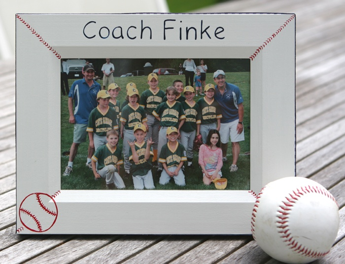 81 best sports themed baby gifts images on pinterest baby boys celebrate a great coach great player or team this baseball season with our handpainted baseball theme frame negle Image collections