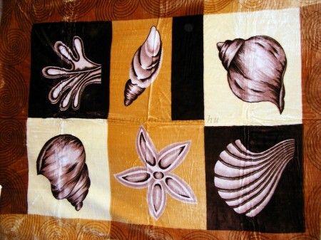 Ágytakaró plüss pléd, tengeri kagyló