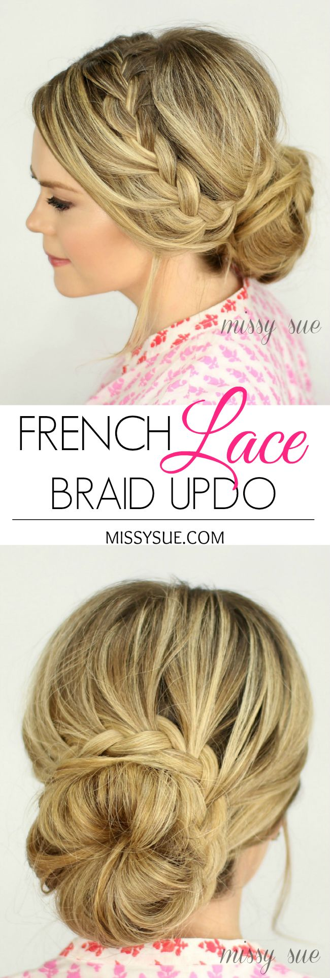 French Lace Braid Updo
