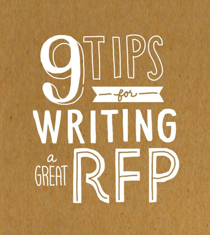 9 Tips for Writing a Great RFP