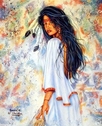 Indian Maiden Native American Wall Decor Art Print Poster (16x20)