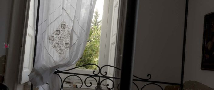 """tende in lino preziose """"QUATTRO COLONNE"""" la Straordinaria!"""
