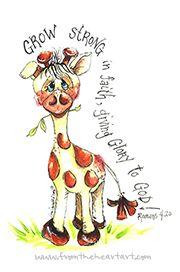 Jungle: Giraffe Print (Romans 4:20)