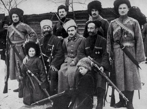 The Russian civil war - white army Cossacks