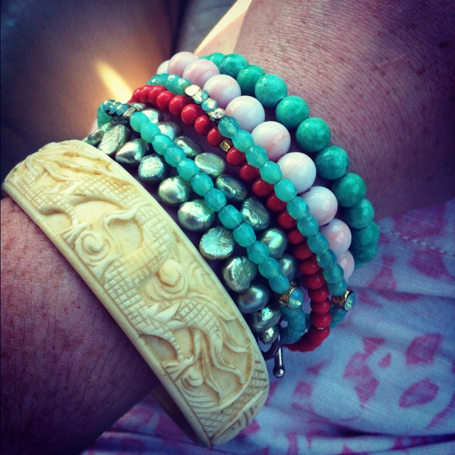 Stacked bracelets | S T Y L E | Pinterest