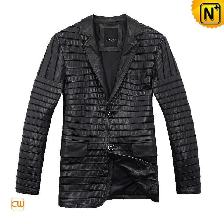 Cool Leather Blazer Jacket Autumn Men Leather Blazer Jacket CW866830 $578.78 - www.cwmalls.com