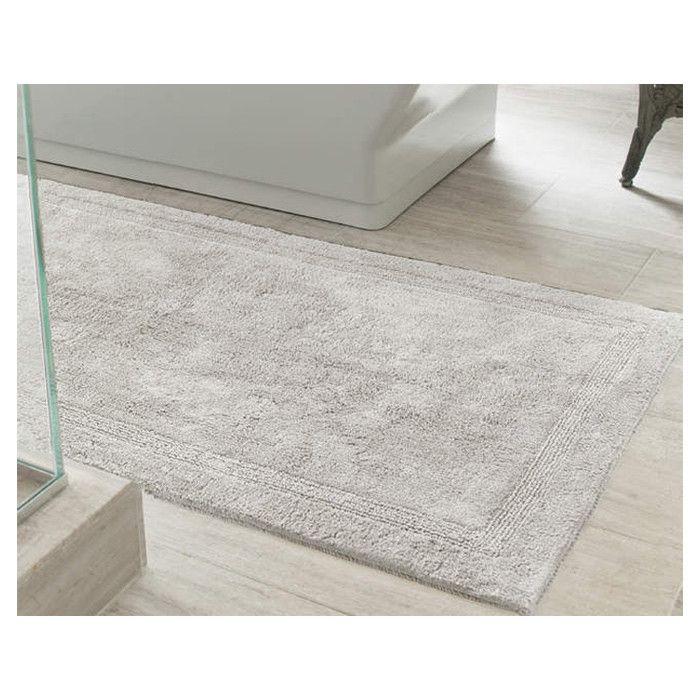 dove grey bath mat