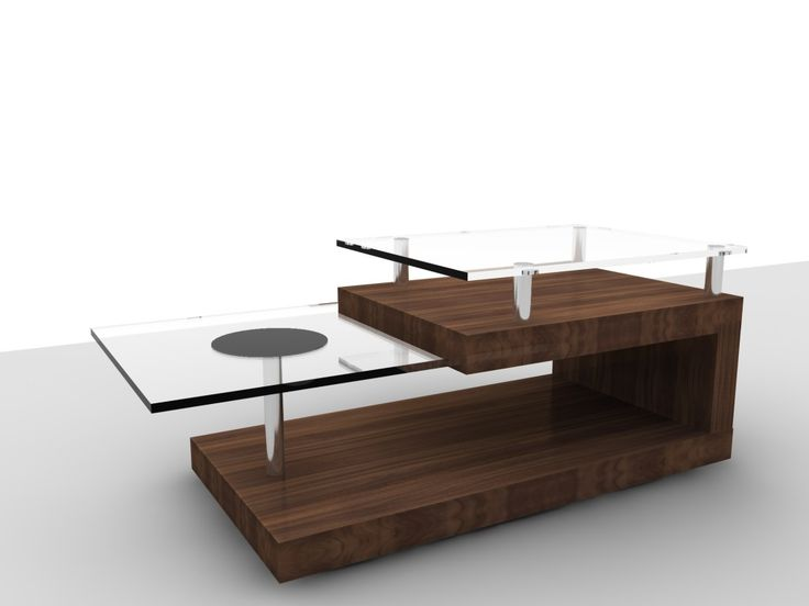 modern glass and wood coffee table - coffee tables furniture