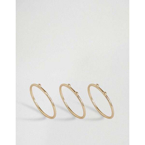 Pilgrim Mini Ball Stacked Rings ($41) ❤ liked on Polyvore featuring jewelry, rings, gold, stacking rings jewelry, pilgrim ring, pilgrim jewelry, stackable rings and ball jewelry