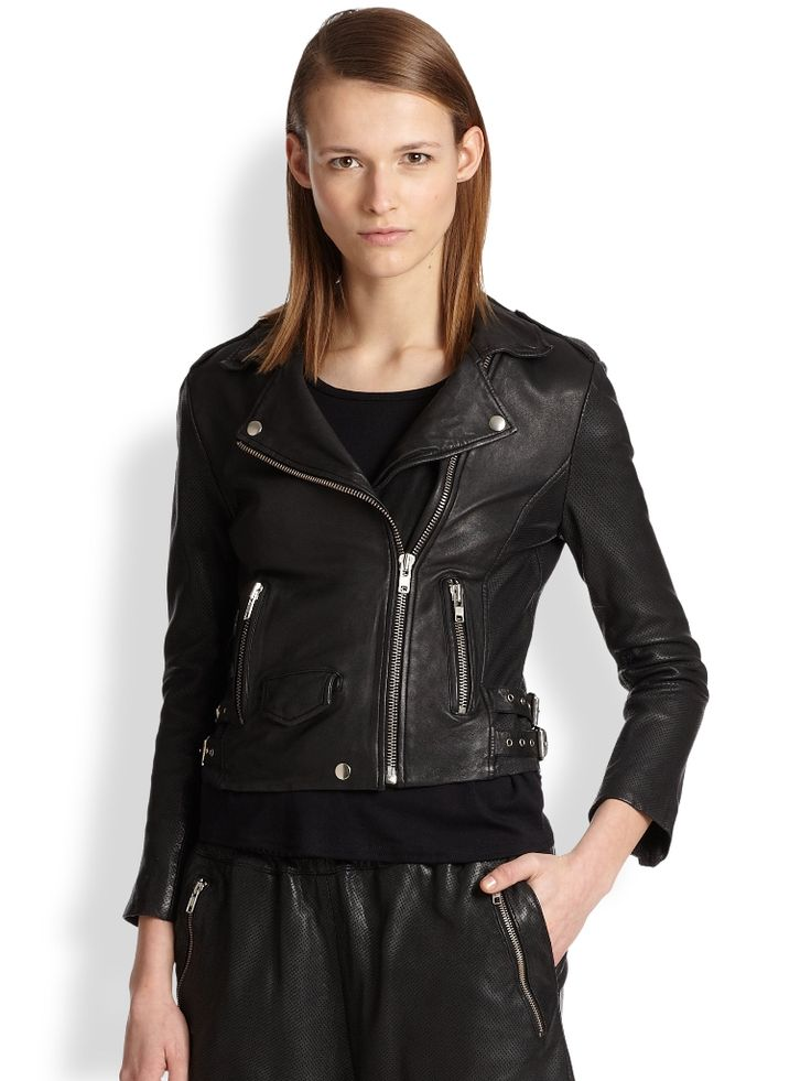 17 best Black Leather Jacket images on Pinterest | Womens black ...