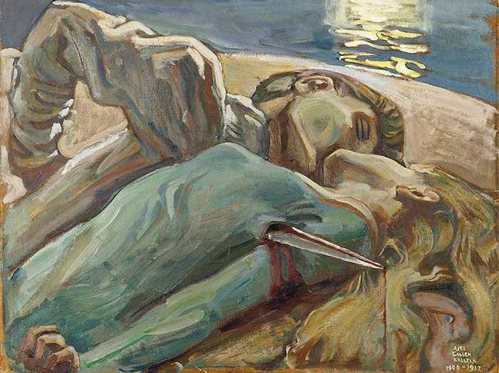 A Polar Bear's Tale: Akseli Gallén-Kallela (1865-1931)    The Lovers, 1906-17