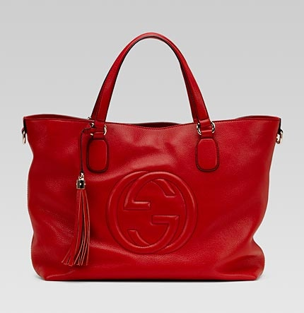 Gucci 'soho' medium tote with embossed interlocking G