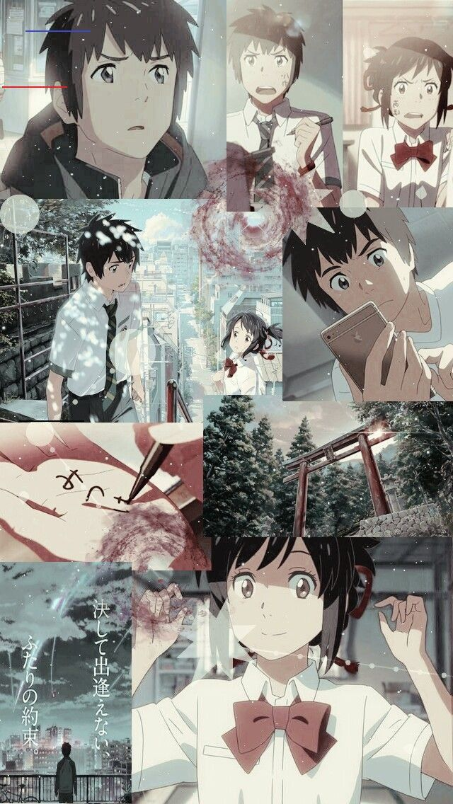 Pin By Alisha Zimpfer On Cute In 2020 Anime Wallpaper Iphone Your Name Wallpaper Your Name Anime Your name anime wallpaper iphone