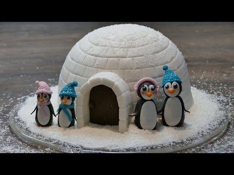 Iglu Motivtorte mit Pinguinen   Weihnachts-Motivtorte von Nicoles Zuckerwerk – Y… – Winter verschiedenes
