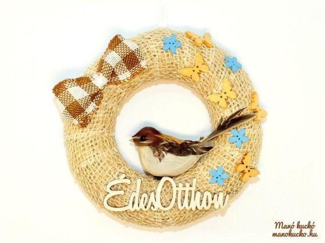 Tavaszi madaras ajtódísz - Manó kuckó