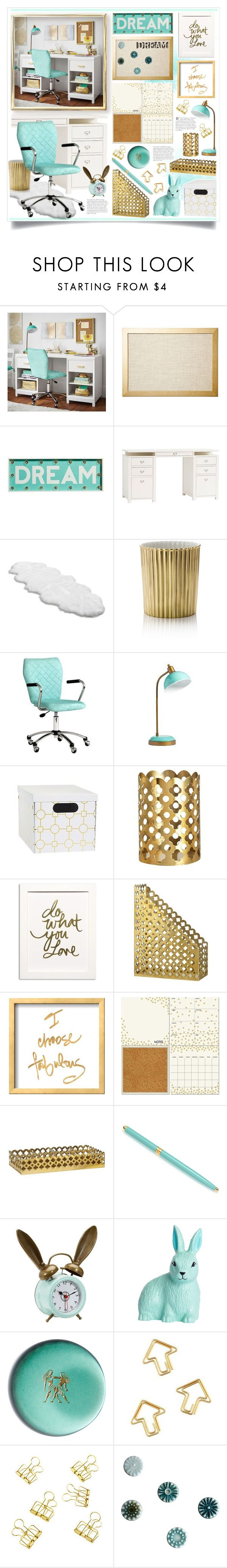 """Home Office Decor"" by hmb213 on Polyvore featuring interior, interiors, interior design, home, home decor, interior decorating, PBteen, LG Designs, UGG Australia and Villari"