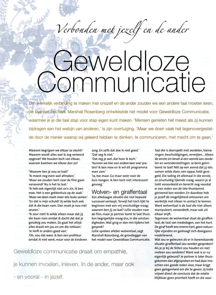 geweldloze communicatie Google zoeken Communicatie