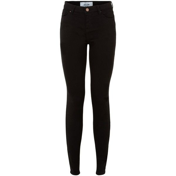 Black Supersoft Super Skinny Jeans ($39) ❤ liked on Polyvore featuring jeans, pants, bottoms, black, ankle length jeans, black zipper jeans, zipper jeans, skinny fit jeans and 5 pocket jeans