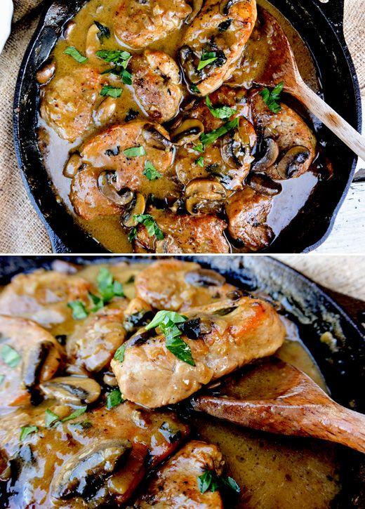 Pork Medallions in Mushroom-Marsala Sauce | www.floatingkitchen.net