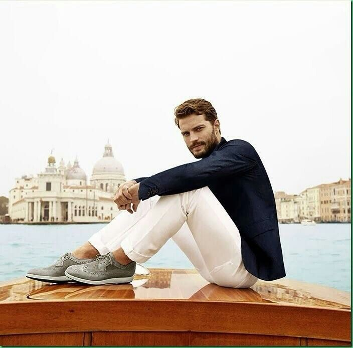 Actor Jamie Dornan in the Hogan Spring/Summer 2014 ad campaign. Dornan will  play Christian Grey in the upcoming Fifty Shades of Grey film