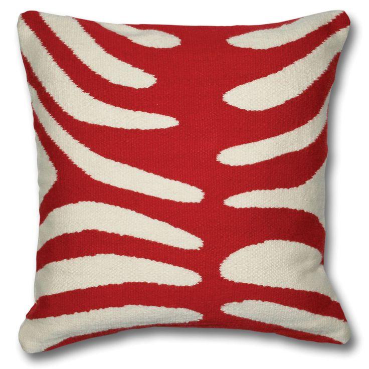 Throw Pillows Justice : Jonathan Adler Zebra Pillow Chinoiserie Pinterest Throw pillows, Pillows and Red