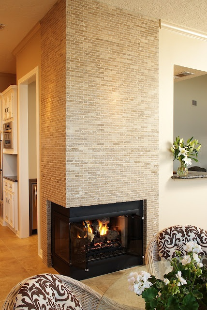 Corner fireplace - Carla Aston, Aston Design Studio