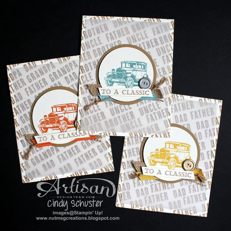 Stamp a stack of guy cards with Guy Greetings Stamp Set ~ Cindy Schuster