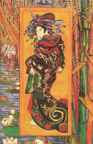 Japonaiserie (Oiran, da Kesai Eisen) - 1887 - Van Gogh - Opere d'Arte su Tela - Listino prodotti - Digitalpix - Canvas - Art - Artist - Painting