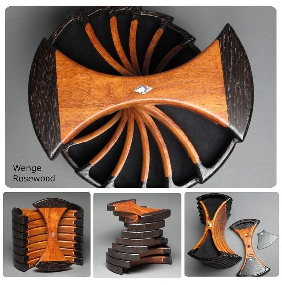 Rotating Jewelry Box with Secret Compartments by watswood on Etsy