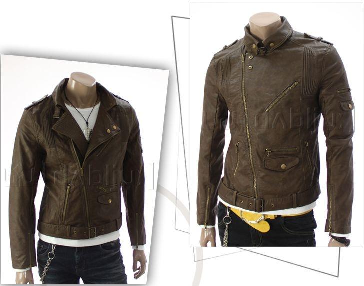 Skinnjakke Motorcycle - Brown - $999nok