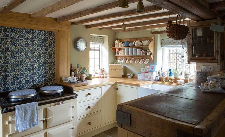 A very rustic take on the classic British kitchen
