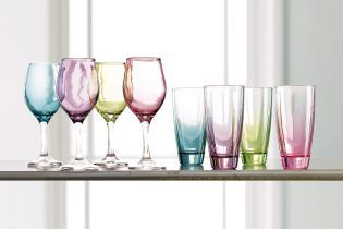 Set Of 4 Tonal Pastel Wine Glasses from Next