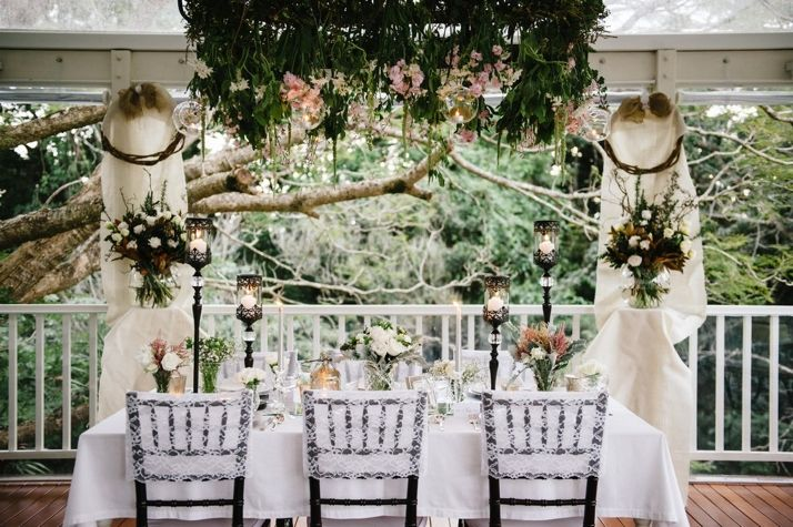 Styling and Hire: Adorn Event Hire Flowers: Ginger Lilly and Rose Photography: Andrea Sproxton Photography Venue: Spicers Clovelly Estate, Montiville, QLD