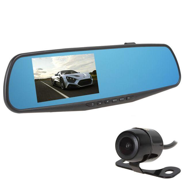 Hot Sale 4.3'' Full HD 1080P 4x Digital Zoom Rearview Mirror Video Recorder Car DVR Dual Night Vision Parking Camera G-Sensor