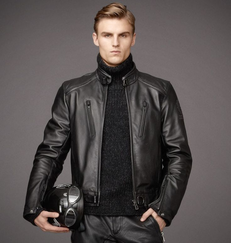 Men's leather jacket by Claiborne is a casual apparel essential Long-sleeve blouson jacket is made from the finest imported hides Men's clothing has Thinsulate insulation for superior warmth.